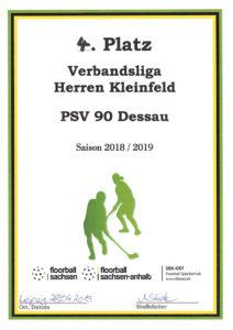 Urkunde Herren KF Playoffs