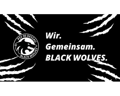 Desktop Hintergrund – Black Wolves mit Spruch