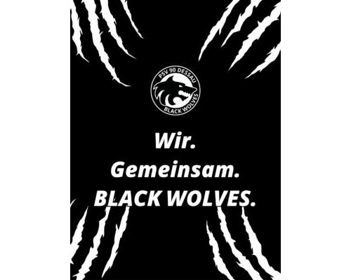 Mobil Hintergrund – Black Wolves mit Spruch (3:4)